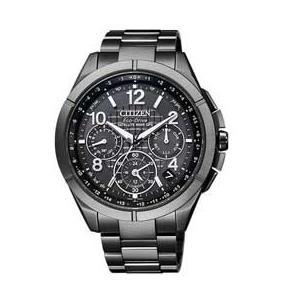 シチズン腕時計アテッサ エコ・ドライブ電波時計 ブラックチタンシリーズ CC9075-52F JAN末番471481|araicamera