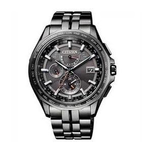 シチズン腕時計アテッサ エコ・ドライブ電波時計 ブラックチタンシリーズ AT9097-54E JAN末番6325|araicamera