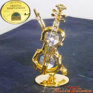 スワロフスキー オーナメント バイオリン 置物 合金製 24K  クリスタルテンプテーション CRYSTAL TEMPTATIONS SWAROVSKI ELEMENTS arajin1990