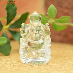 『水晶  ガネーシャ』 ヒンドゥー教の神名。 ガネーシャは〈(神々の)群(ガナ)の主(イーシャ)〉を...