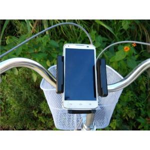 スマホ自転車ホルダー iPhone android など携帯スタンド 360度回転|arakawa5656