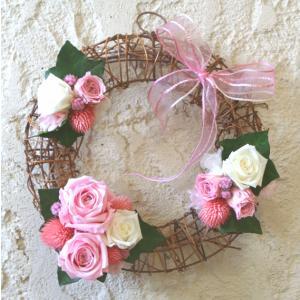 【送料無料】pretty bride(プリティ・ブライド)プリザーブドフラワーのリース arancia-mm