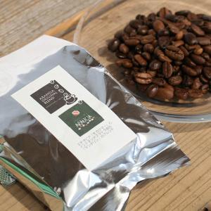 カフェアランチャ・オリジナルブレンドコーヒー豆「カロシ&サントス」100g スイーツとの相性◎あっさり香り高いブレンドコーヒー【ネコポス可】 arancia-mm
