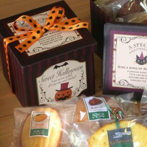 ハロウィンお菓子のプチギフト「ハロウィンレトロペーパーBOX〜キューブ」和歌山産カボチャとフルーツの焼き菓子3個入り arancia-mm