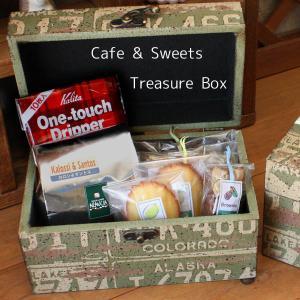 大人の男のためのギフト「カフェスイーツBOX☆宝箱」本格コーヒーと和歌山産フルーツの焼き菓子詰め合わせ 父の日 arancia-mm