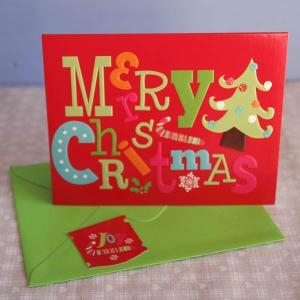 クリスマスカード「POPなメリークリスマスとツリー」【メール便可】 arancia-mm