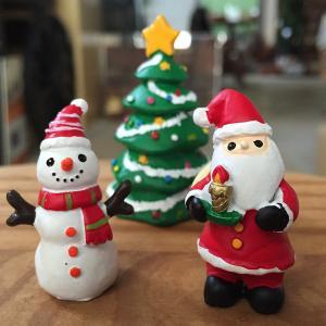 【クリスマスオーナメント】キャンドルライトツリー3点セット(サンタ・ツリー・スノーマン)|arancia-mm