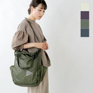 【クーポン対象】and wander アンドワンダー 30Dコーデュラナイロンシルトートバッグ sil tote bag 574-1175403 2021ss新作|aranciato