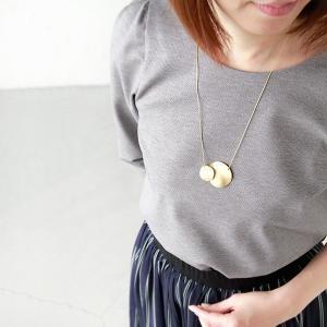 ゆうパケット選択可 Joli&Micare ジョリー&ミカーレ  Gold 2chip Necklace|aranciato