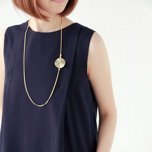 Joli&Micare ジョリー&ミカーレ  Gold chip 2chain long necklace|aranciato