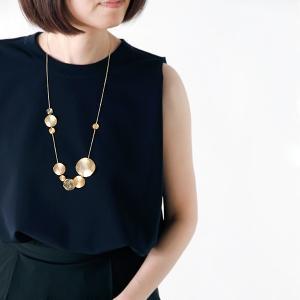 Joli&Micare ジョリー&ミカーレ  Gold 9chip long Necklace|aranciato
