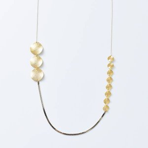 Joli&Micare ジョリー&ミカーレ  Gold chip long Necklace gdc0108|aranciato