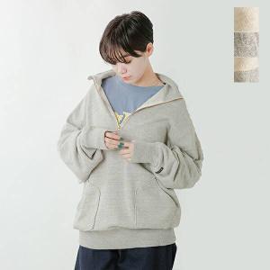 kha:ki カーキ リサイクルトップ裏毛ハーフジップスウェットシャツ HALF ZIP SWEAT SHIRTS mil-21fcs276 2021aw新作|aranciato