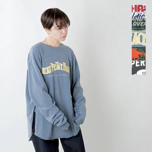 kha:ki カーキ ピグメントダイプリントジャージーコットンロングスリーブTシャツ PIGMENT LS TEE mil-21fcs285 2021aw新作|aranciato