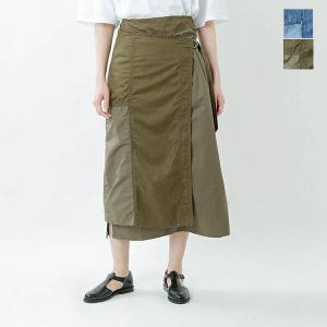 【40%OFF】kha:ki カーキ コットンパッチワークワープスカート PATCHWORK WRAP SKIRT mil-21ssk65  2021ss新作|aranciato