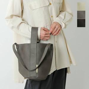 【クーポン対象】yucchino ユッキーノ レザーハンドショルダーバケツバッグ OTONA eco-bag BUCKET aranciato