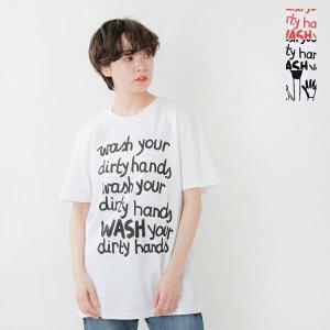【クーポン対象】【40%OFF】SARAH CORYNEN サラコリネン グラフィックTシャツ washyourhands-hello 2021ss新作|aranciato