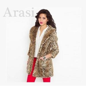 ファー ファーコート 女性ファーコート 毛皮コート ロッグコート レディース用 ファション 豹柄 高級素材 アウター
