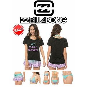 【新品】BILLABONG(ビラボン)水着 [PPL] ビキニ 上下 Tシャツ・トランクス 4点SET  サイズL (ah13816)|arasoan