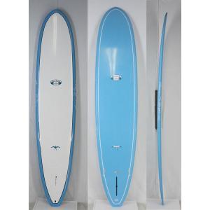 【新品アウトレット】Hawaiian Pro Designs(ハワイアンプロデザイン) BEACH BREAK サーフボード [BLUE/WHITE] 9'0