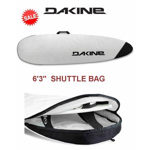 【新品】Dakine(ダカイン) SHUTTLE BAG  サーフボード用 ボードケース [WHITE]  6'3
