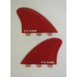 【新品】FCS(エフシーエス)FK-1 PC FISH KEEL TWIN SET [RED]Lサイズ フィッシュ ツインフィン|arasoan