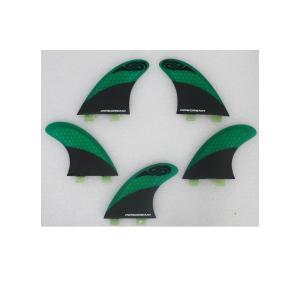 【新品】Pipedream Fin(パイプドリームフィン) FCSプラグ トライ&クアッド 5Fin [Green] フィン arasoan