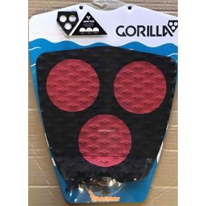 【新品】GORILLA GRIP (ゴリラグリップ) デッキパッド DOT HERITAGE モデル [BLK/RED]  TAIL DECKPADS デッキパッチ|arasoan
