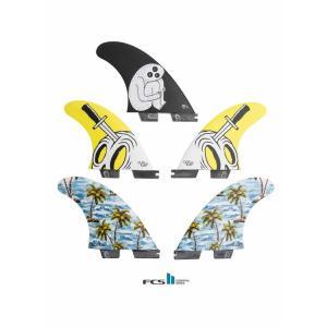 新品 GORILLA FIN【SLOTH PALM SHANK TRI-QUAD FIN SET】FCSIIプラグ Lサイズ トライ&クアッド5枚セット|arasoan