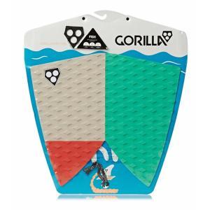 【新品】GORILLA GRIP (ゴリラ グリップ)FISH TAIL モデル  サーフボード  デッキパット [カラー/SNWF] フィッシュテール用|arasoan