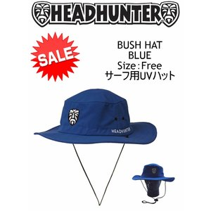 【新品】HEAD HUNTER(ヘッドハンター)BUSH HAT  サーフハット[BLUE] 日よけ帽子 サーフィン|arasoan