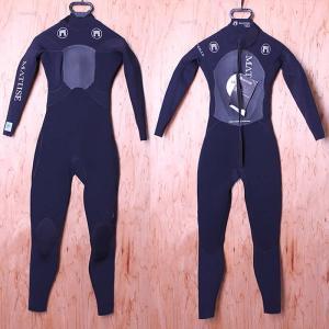 【極上中古】MATUSE(マテュース)ウェットスーツ[Black]レディース Sサイズ 4/3/2mm バックジップ フルスーツ|arasoan