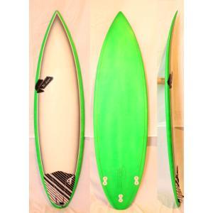 【中古】SHIN SURFBOARDS(シン) サーフボード[Green×White×Gray] 6'2