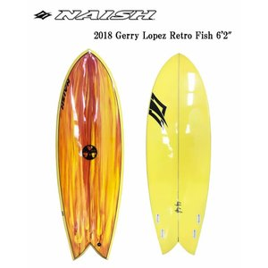 【メーカーお取り寄せ】NAISH(ナッシュ)GERRY LOPEZ RETRO FISH [YELLOW×ORANGE]6'2