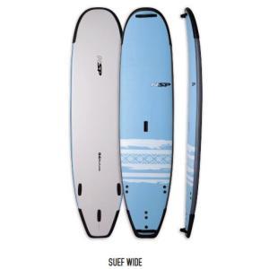 """【メーカーお取り寄せ】 NSP (エヌエスピー)NSP P2 SOFT 2017 Surf Wide  8'4"""" モデル [BLUE/WHITE] サーフボード フィン付き arasoan"""