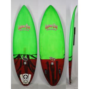 【中古】Laguna Bay(ラグーナベイ )DOGMAN モデル SUP スタンドアップパドルボード Tully St John [GREEN/RED] 7'6