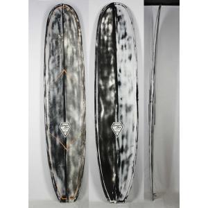 【極上中古】 Laguna Bay (ラグーナベイ) LOG モデル サーフボード ロングボード [ カラー:Black×Orange] 9'8'' ノーズライダー arasoan