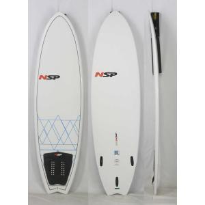 【極上中古】 NSP(エヌエスピー)E2  FISH モデル サーフボード [WHITE/BLUE] 5'6
