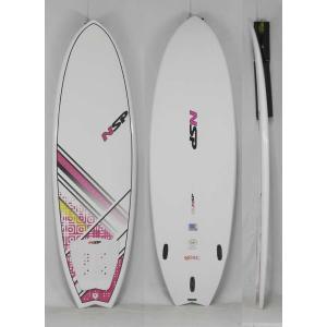 【新品】 NSP(エヌエスピー)E2  FISH B4BC モデル サーフボード [WHITE/PINK] 5'6