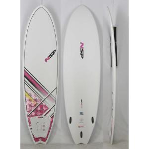 【新品】 NSP(エヌエスピー)E2  FISH B4BC モデル サーフボード [WHITE/PINK] 6'4