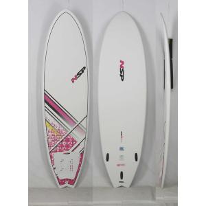 【新品】 NSP(エヌエスピー)E2  FISH B4BC モデル サーフボード [WHITE/PINK] 6'6