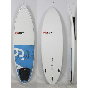 【新品】 NSP(エヌエスピー)E2  HYBRID モデル サーフボード [WHITE/BLUE] 6'4