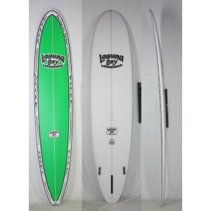 【新品】LAGUNA BAY(ラグーナベイ) MSJ  SUPA MODEL 2  サーフボード [CLEAR/GRN]  9'1