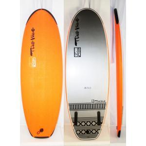 【新品】TRUE WAVE Surf boards(トゥルーウェーブ)真波 サーフボード [ORANGE] 4'10 ソフトボード フィン リーシュ付き|arasoan