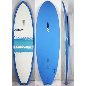 【新品】NSP (エヌエスピー)ELEMENTS FISHモデル サーフボード [Blue] 6'4