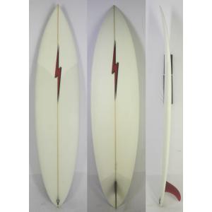 【新品】 LIGHTNING BOLT SURF BOARD  (ライトニングボルト) クラシック サーフボード [CLEAR×RED] 7'2