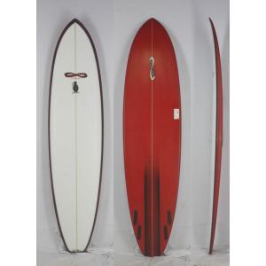 【新品アウトレット】INFINITY(インフィニティー)SECRET WEAPON モデル サーフボード [CLEAR/RED] 8'0