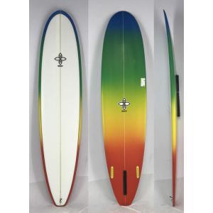 【新品アウトレット】INFINITY(インフィニティー)ハンドシェイプ サーフボード [WHITE/RAINBOW] 8'0