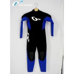 【新品】ON'S(オンズ) Junior wetsuits フルスーツ [Black/Blue] Size10 2mmジャージ 子供用 ウェットスーツ|arasoan