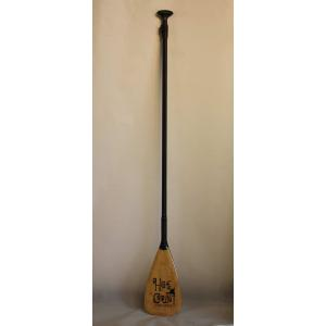 【中古】hot curl(ホットカール)フルカーボン素材 175cm [BLACK/WOOD] サーフィン用 パドル|arasoan